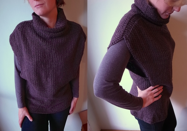 my luscious Danforth, knit with Fibre Co Savannah in Cabernet