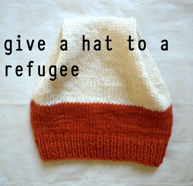 my latest venture, knitting for refugees. You can help.